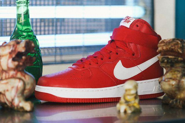 Nike Air Force 1 High Nai Ke Gym Red Preview 1