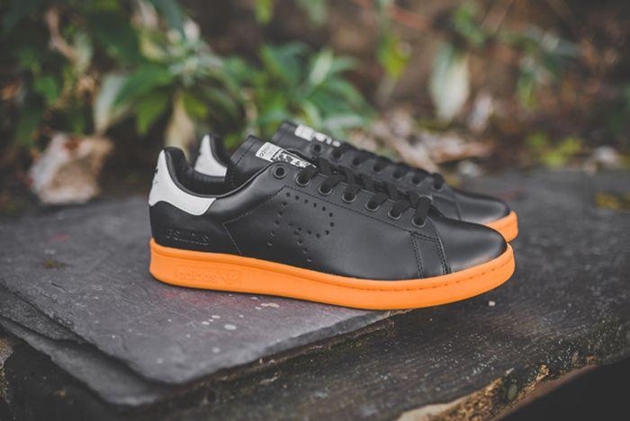Raf Simons X Adidas Stan Smith Black Bright Orange 1