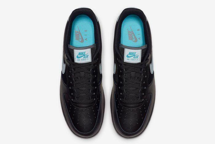 Nike Air Force 1 Black Blue 4