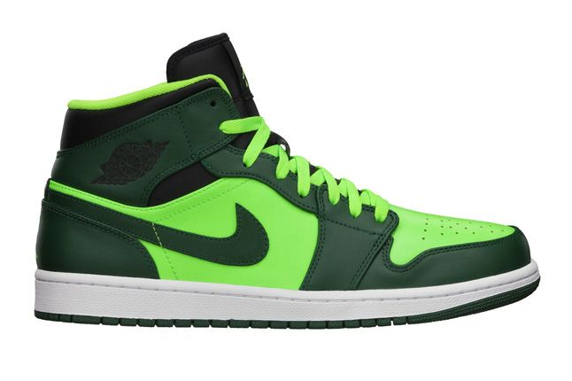 Jordan 1 Mid Electric Green Profile 1