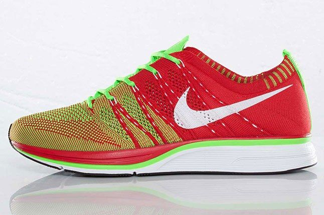 Nike Flyknit Trainer Red Green 1