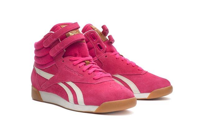 Reebok Freestylehi Suede Pink Hero 1