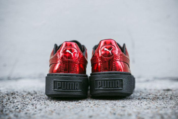 Puma Basket Platform Wmns Metallic Risk Red 1