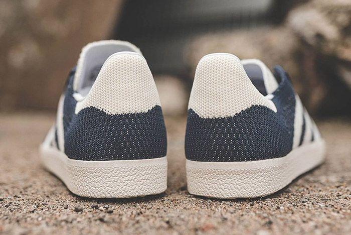 Adidas Gazelle Primeknit Navyblue White 1