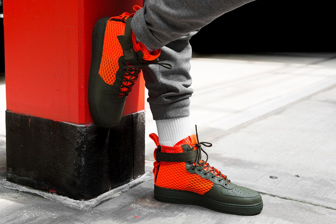 Nike Sf Air Force 1 Total Crimson 1