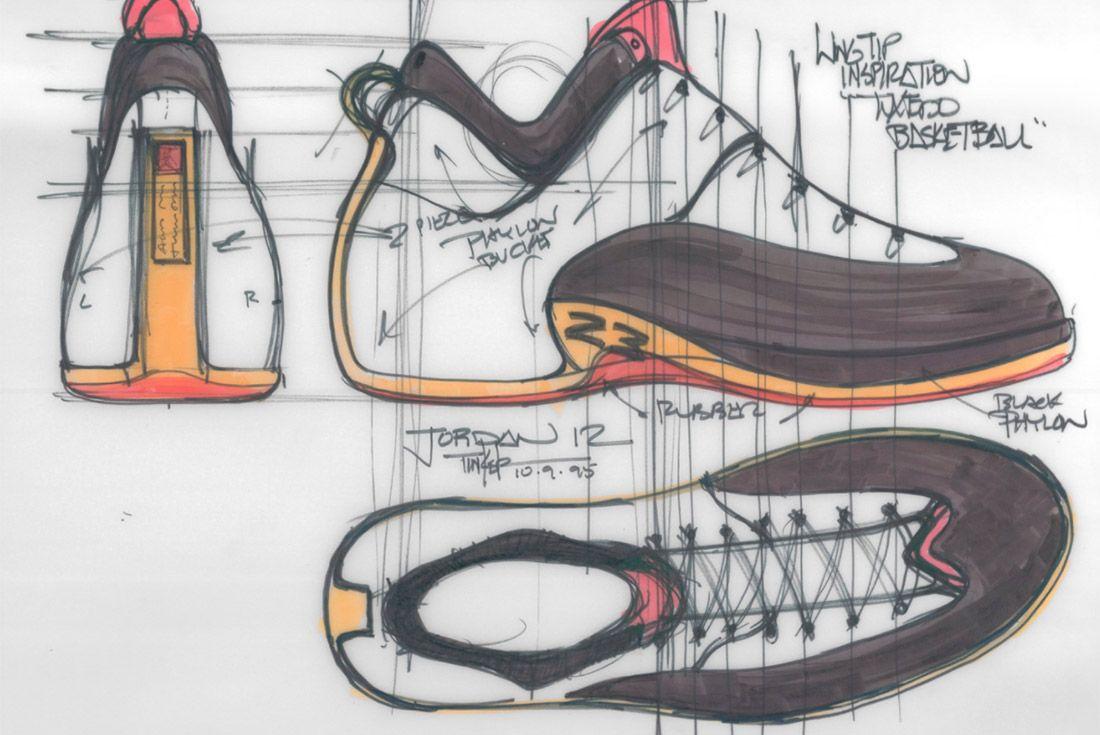 Material Matters Jordan Brand Jordan 12 Concept Sketch 1