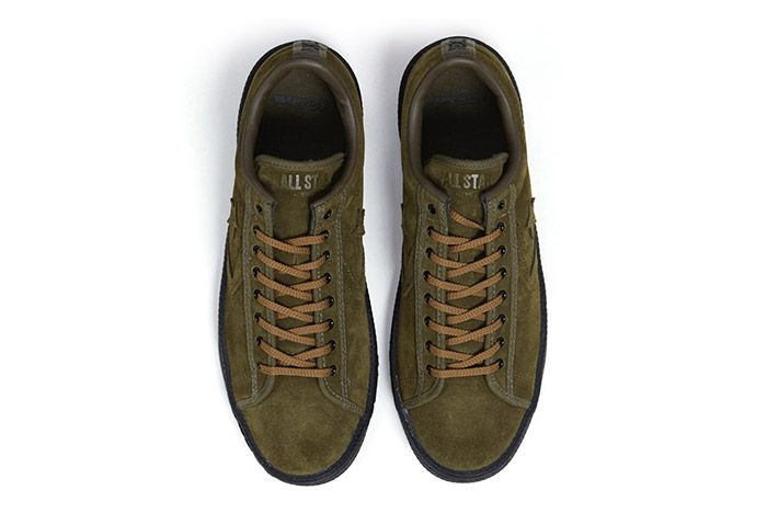 Nexusvii Converse Pro Leather Ox Olive Green Suede 3