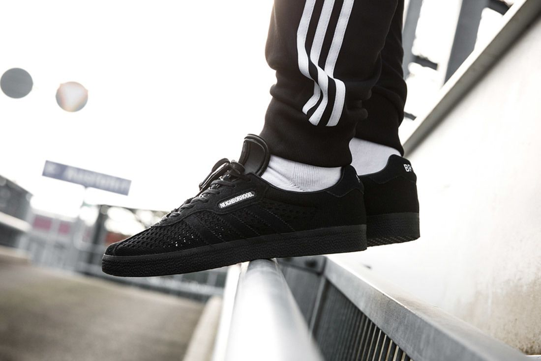Neighborhood X Adidas Gazelle Nmd R1 On Foot Sneaker Freaker 1