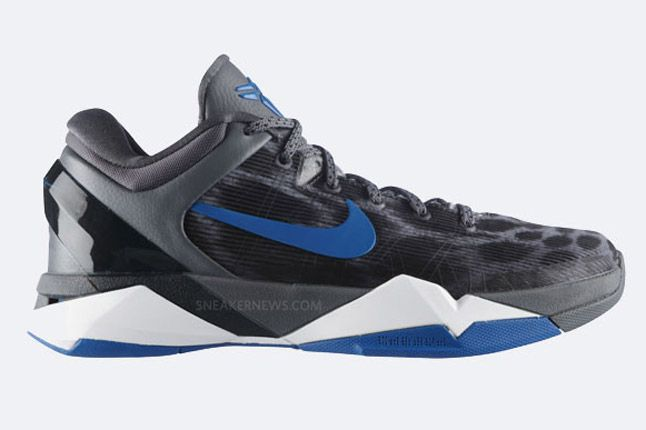 Nike Zoom Kobe Vii Grey Cheetah Profile 1