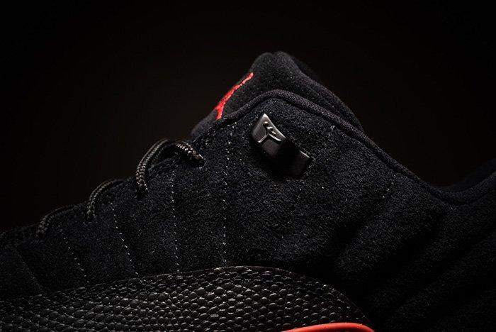 Air Jordan 12 Low Black Max Orange 4