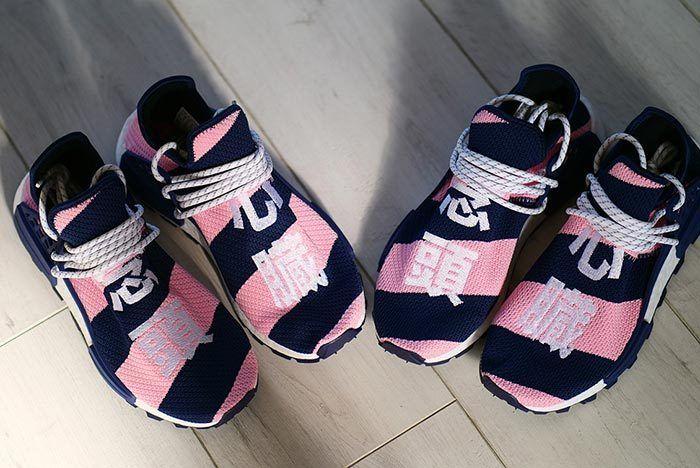 Bbc Pharrell Bbc Hu Nmd Pink Blue 2