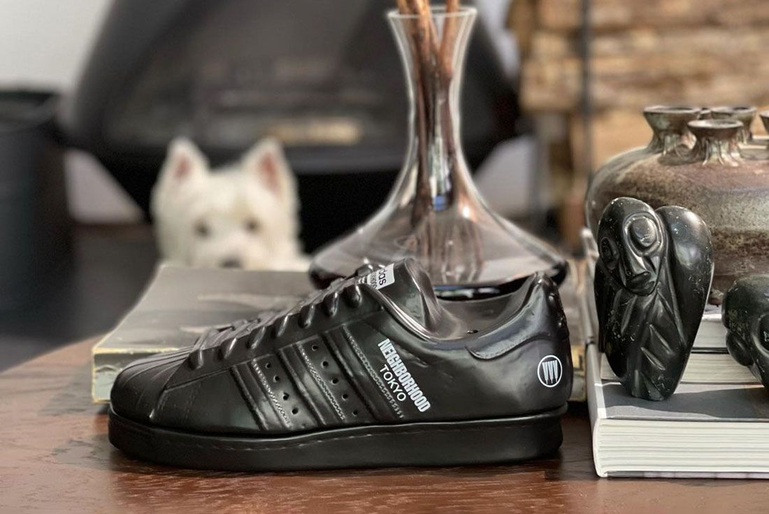 NEIGHBORHOOD adidas Superstar Flattery Chamber Black