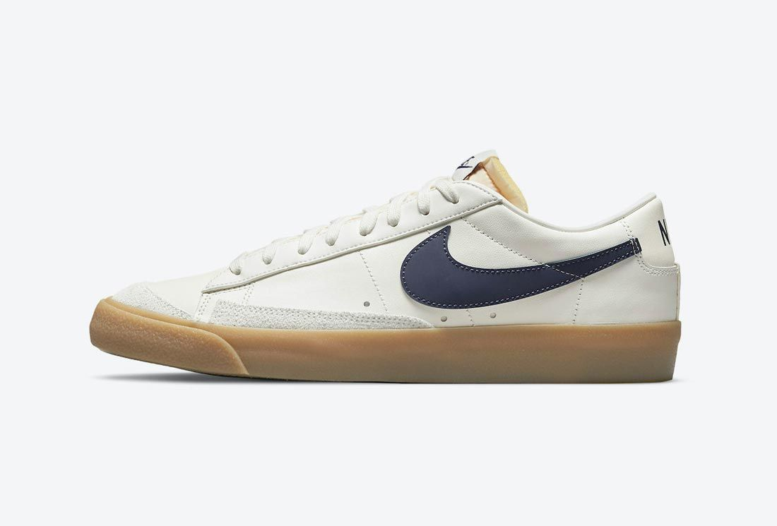 Nike Blazer Low White/Navy/Gum