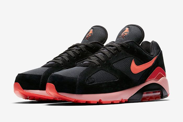 Nike Air Max 180 Black Team Orange University Red Av3734 001 Release Date Sneaker Freaker