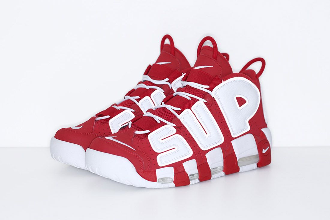 Supreme Nike Air More Uptempo Red 2
