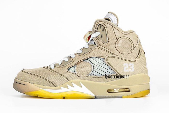 Off White Air Jordan 5 Cream Ct8480 100 Release Date