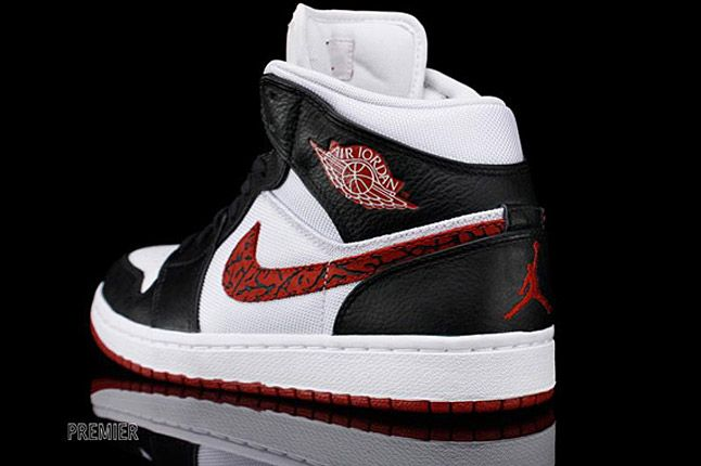 Air Jordan 1 Phat White Black Varsity Red Elephant 2 1