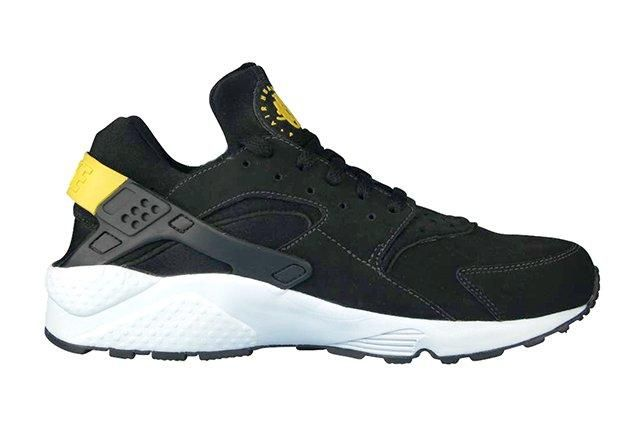 Nike Air Huarache Black Tour Yellow 1