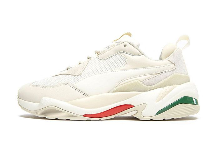 Puma Thunder Spectra Italy Cream Red Green Left