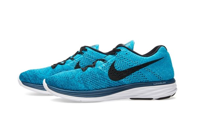 Nike Flyknit Lunar 3 Brave Blue 1