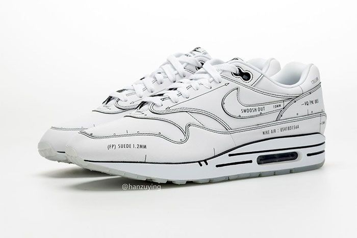 Nike Air Max 1 Schematic Not For Resale Left2
