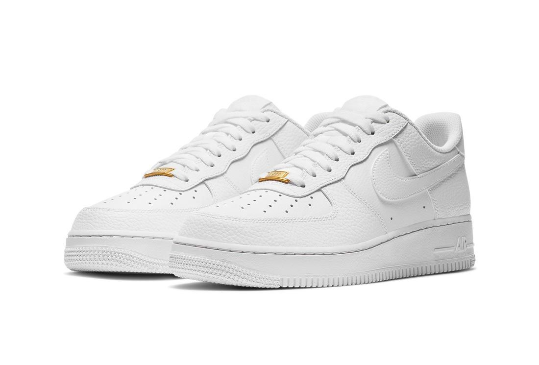 Tumbled Leather Hits the 'Triple White' Nike Air Force 1 - Sneaker ...