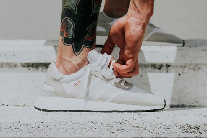 Adidas Iniki Runner Pearl Grey Feature