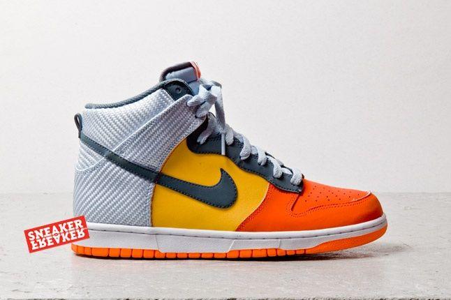 Nike Dunk Hi Team Orange Total Orange Profile