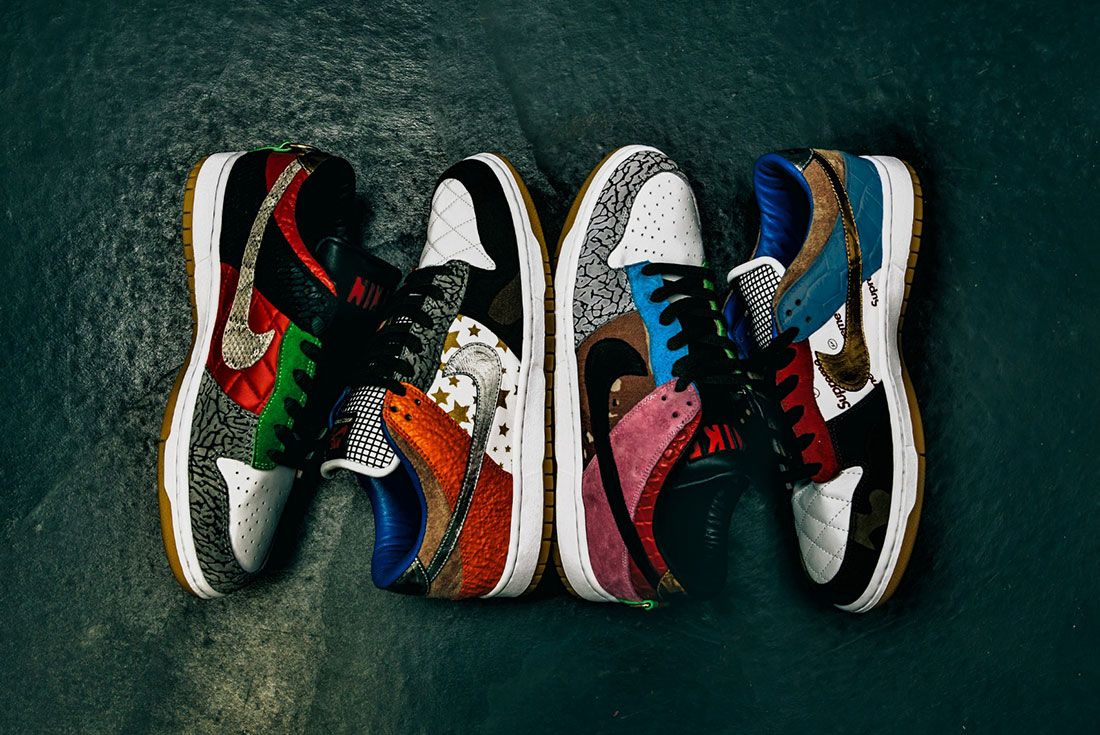 Bespokeind Nike Sb Dunk Low Pro What The Supreme Up Group Shot