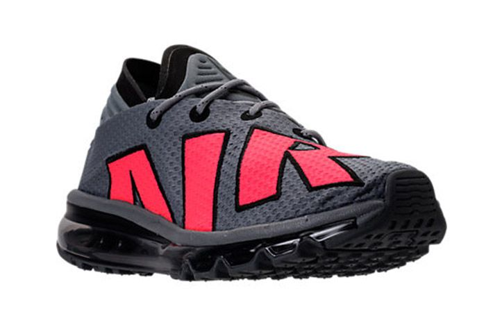 Nike Air Max Flair Cool Grey Solar Red 5