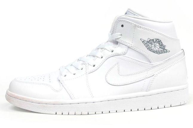 Air Jordan 1 White On White Profile 1
