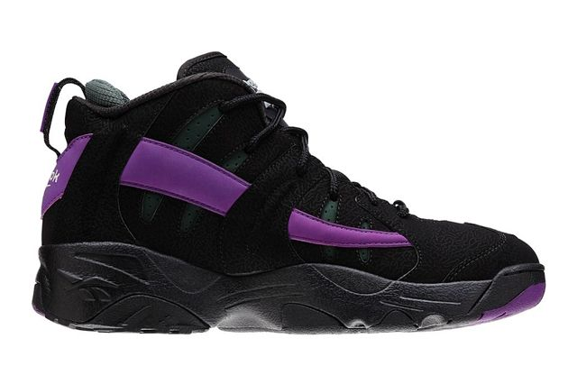 Reebok The Rail Black Purple Olive Profile