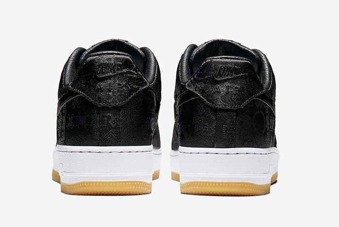 Clot Fragment Nike Air Force 1 Black Satin Heel