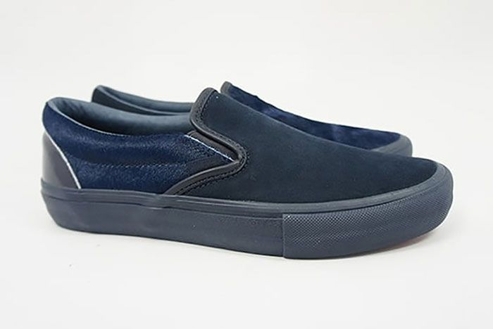 Engineered Garments Vans Vault Slip On Cow Navy Right Lateral