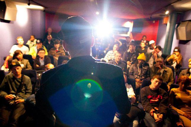 Ricky Powell Foot Patrol London Pony Launch Talk Crowd 1