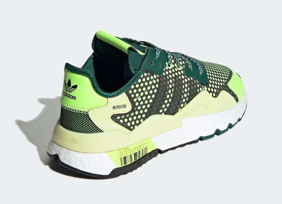 adidas Nite Jogger Signal Green Angled Heel