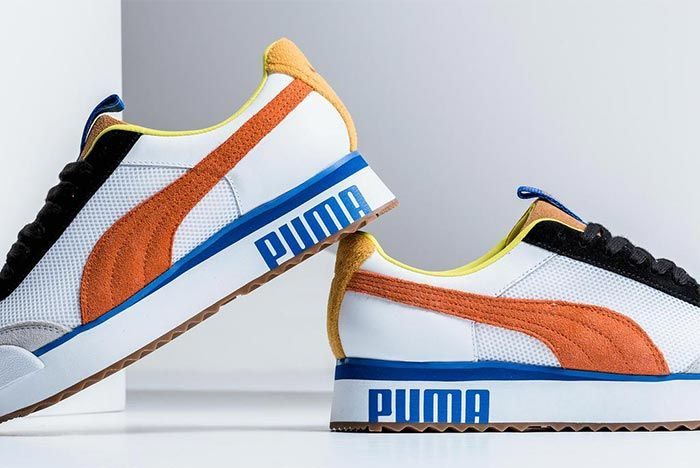Puma Roma Amor Sport Mandarine Red Lateral Side