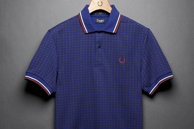 Fred Perry Drakes Blue Polo 1