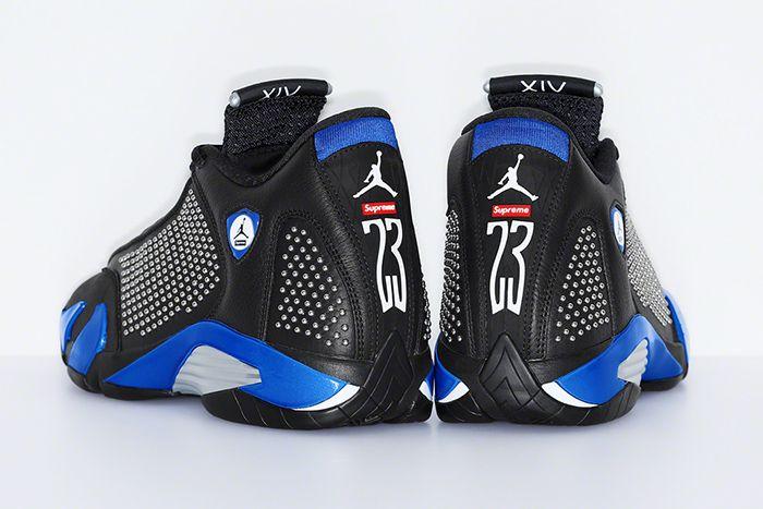 Supreme Air Jordan 14 Official Black Release Date Heel