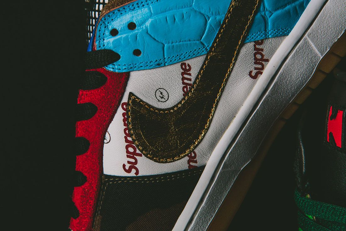 Bespokeind Nike Sb Dunk Low Pro What The Supreme Up Close7