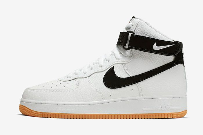 Nike Air Force 1 High White Black Gum At7653 100 Lateral