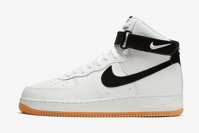 Nike Air Force 1 High White Black Gum At7653 100 Lateral