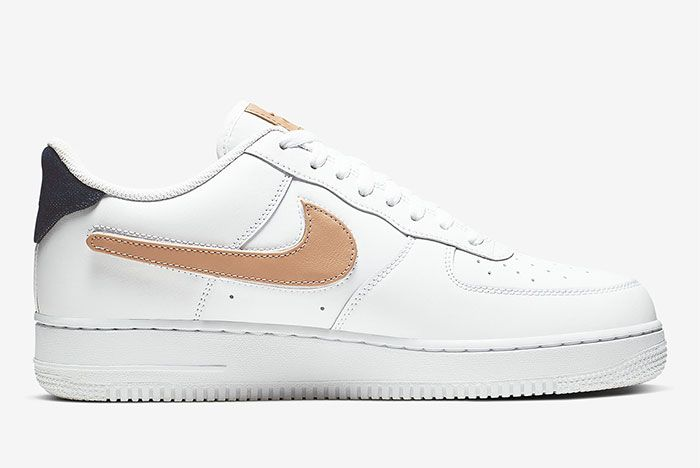 Nike Air Force 1 Removable Swoosh Pack White Right