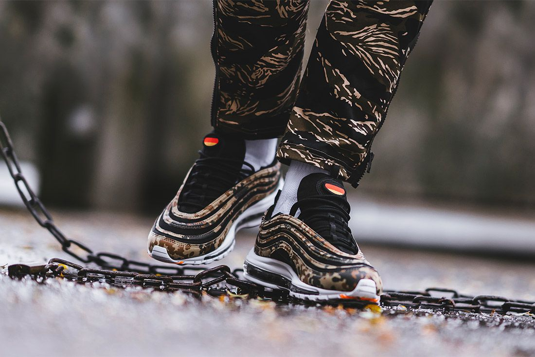 Country Camo Nike Air Max 97 Premium Qs Bamboo Black Dk Khaki Sequioa Aj2614 204 Sneaker Freaker 7