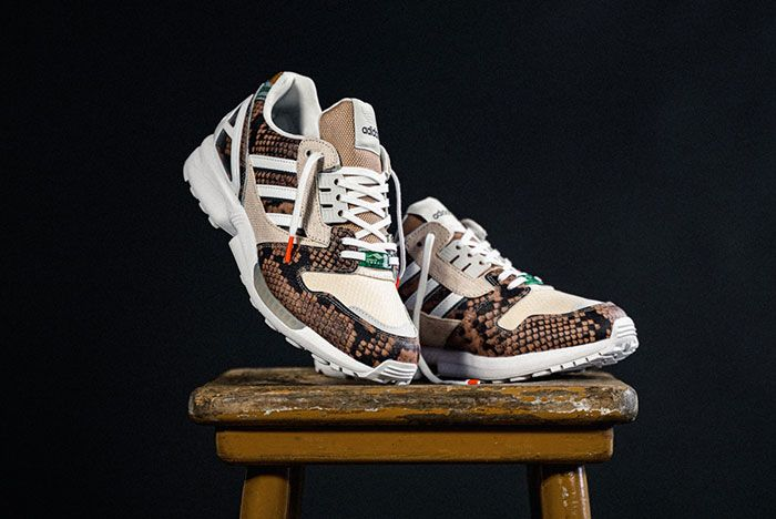 Adidas Zx 8000 Lethal Nights Pack Brown Fw2154 Three Quarter Angled Side Shot