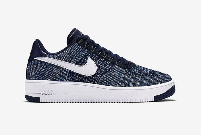 Nike Air Force 1 Flyknit Navy White 6