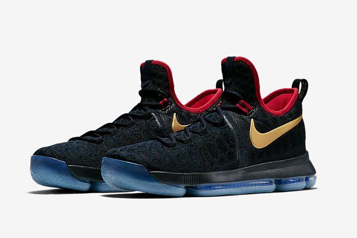 Nike Zoom Kd 9 Dark Obsidian Gold Olympic 1