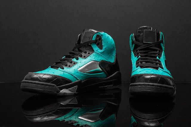 Custom Air Jordan 5 Tiffany Jbf Customs 4
