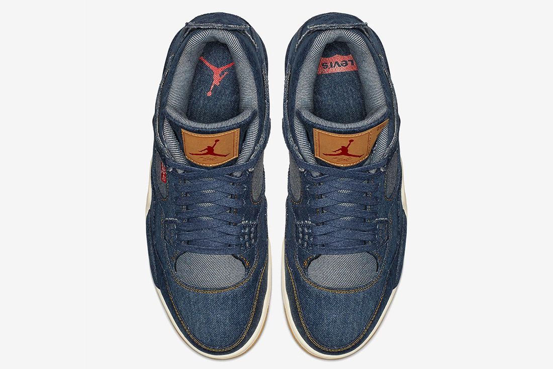 Levis Air Jordan 4 Denim Indigo 3