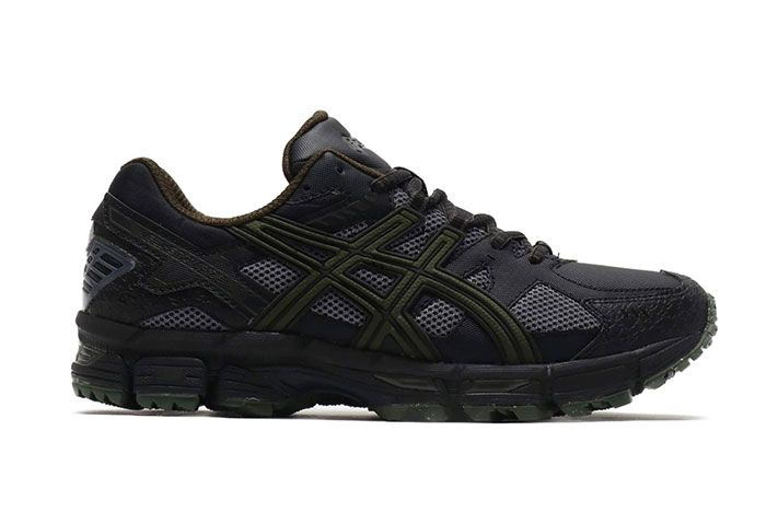 Asics Gel Snowride Black Olive Release 1 Side